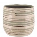 Keramik Kübel Saigon, D11cm, H10cm, für TO10, düne